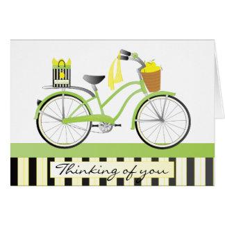 Lemon Bicycle Greeting Card