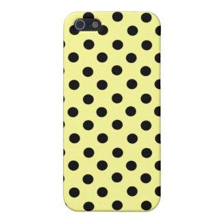 Lemon & Black Spot Polka Dot 4  iPhone 5/5S Case