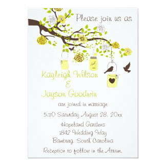 Lemon Bliss Wedding 5.5x7.5 Paper Invitation Card