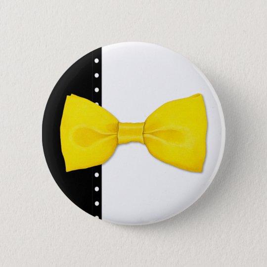 Lemon Bowtie Button