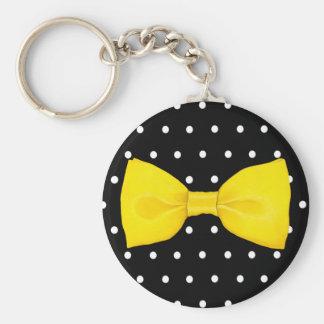 Lemon Bowtie Keychain