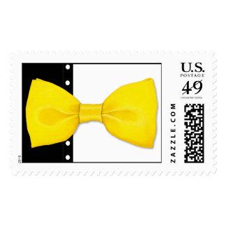Lemon BowTie Postage Stamp