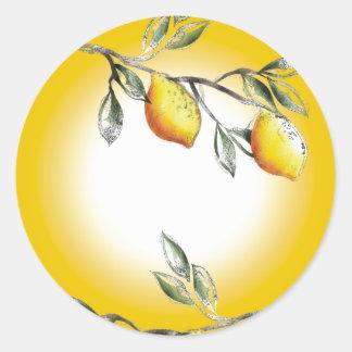 Lemon branch baking cooking kitchen gift sticker