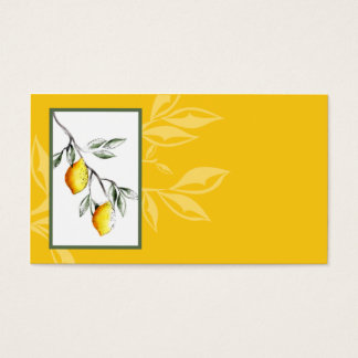 lemon branch chef catering business card