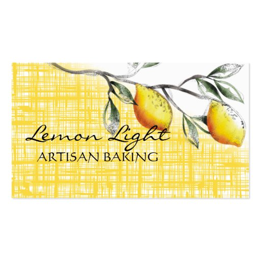 lemon branch cooking baking catering business c... Double-Sided standard business cards (Pack of 100)