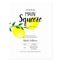 Lemon Bridal Shower Found Her Main Squeeze Invites