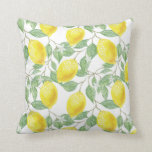"Lemon Bright | Throw Pillow<br><div class=""desc"">This fun lemon pattern adds a bright and sunny feel to any room.</div>"