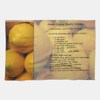Lemon Cake Recipe Towel