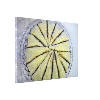 Lemon cake, semi-spiral cut canvas print