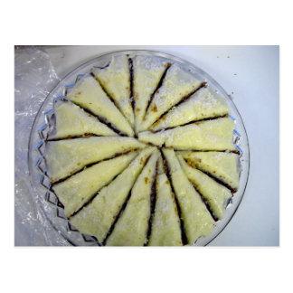 Lemon cake, semi-spiral cut postcard