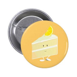 Lemon cake slice character pins