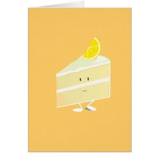 Lemon cake slice character card