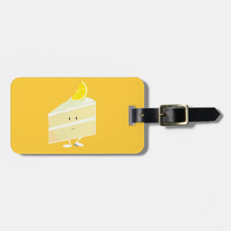 Lemon cake slice character tags for bags