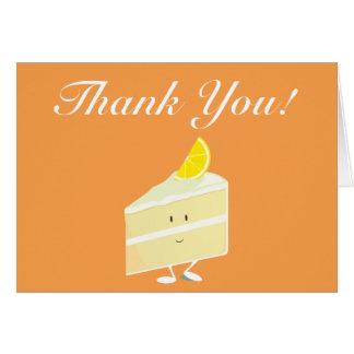 Lemon cake slice thank you card