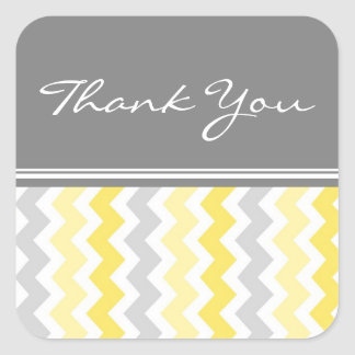 Lemon Chevrons Thank You Wedding Envelope Seals