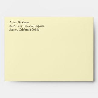 Lemon Chiffon A7 5x7 Custom Pre-addressed Envelope