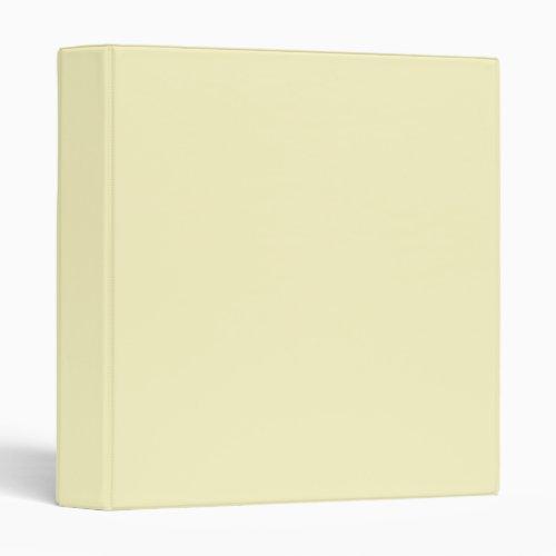 Lemon Chiffon Solid Color Binder