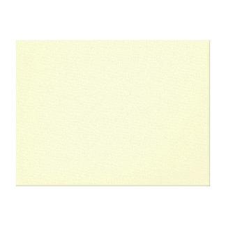 Lemon Chiffon Solid Color Canvas Print