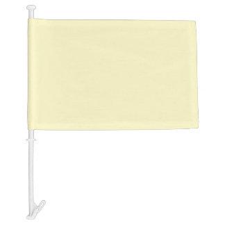Lemon Chiffon Solid Color Car Flag