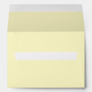 Lemon Chiffon Solid Color Envelope