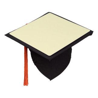 Lemon Chiffon Solid Color Graduation Cap Topper