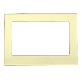Lemon Chiffon Solid Color Magnetic Photo Frame