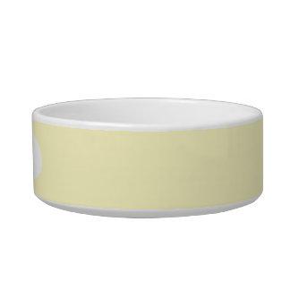 Lemon Chiffon Solid Color Cat Food Bowls