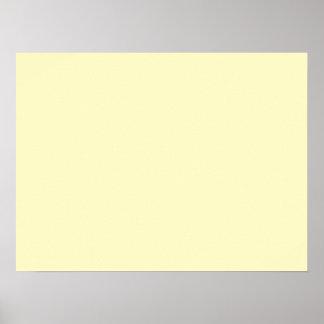 Lemon Chiffon Solid Color Poster
