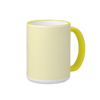 Lemon Chiffon Solid Color Ringer Mug