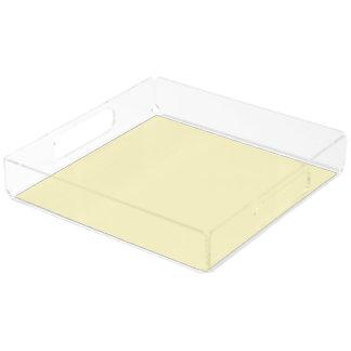 Lemon Chiffon Solid Color Serving Tray