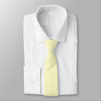 Lemon Chiffon Solid Color Tie