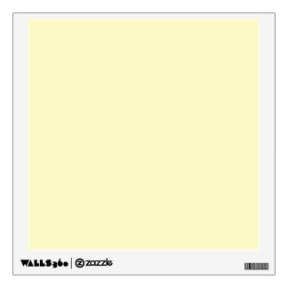 Lemon Chiffon Solid Color Wall Sticker