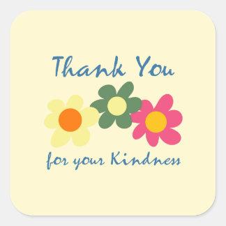Lemon Chiffon Thank You Flower Sticker