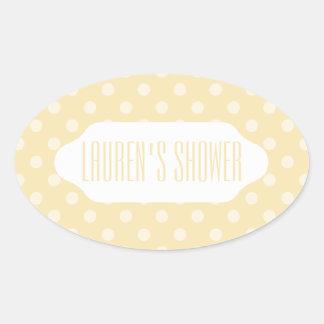 Lemon chiffon yellow polka dots custom sticker