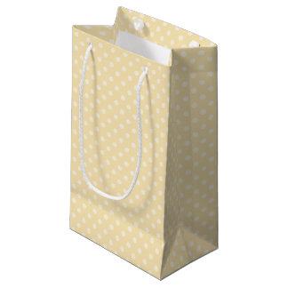 Lemon chiffon yellow polka dots gift bag