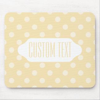 Lemon chiffon yellow polka dots mouse pad