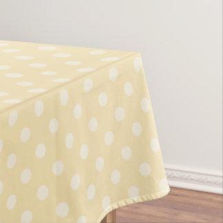Lemon chiffon yellow polks dots tablecloth