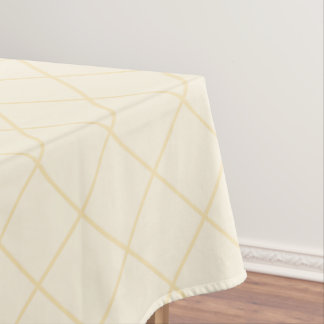 Lemon chiffon yellow squares tablecloth