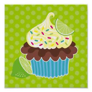 Lemon & Chocolate Cupcake Canvas Print