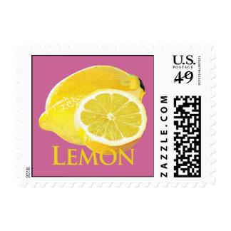 Lemon Citrus Postage Stamps