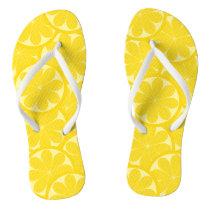 Lemon Citrus Slice Flip Flops