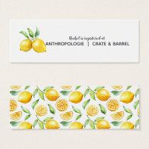 Lemon Citrus Wedding Bridal Registry