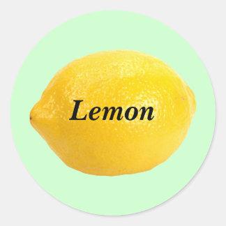 Lemon Classic Round Sticker