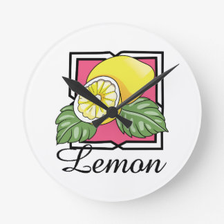 Lemon Round Wall Clock