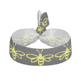 Lemon Colored Bee Elastic Hair Ties