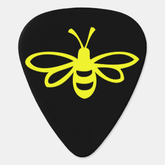 Lemon Colored Bee Guitar Pick