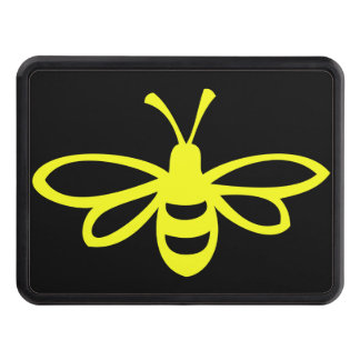 Lemon Colored Bee Trailer Hitch Cover