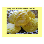 Lemon Cookie Recipe Postcard