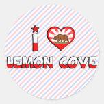 Lemon Cove, CA Round Stickers