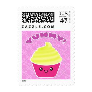 Lemon Cream Yummy Kawaii Cupcake Postage